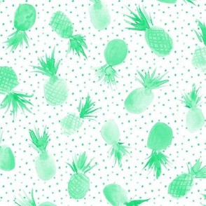 Mint candy pineapples with dots for sweet summer 277