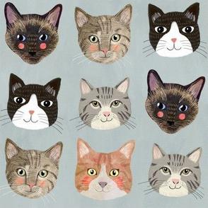 "8"" Cats - Blue"
