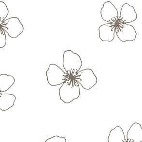 BKRD Princess Bloom - Brown 24x24