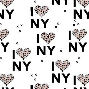 I love New York City romantic valentine travel leopard hearts beige blue