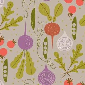 Veggie garden / tan