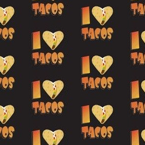 I Heart Tacos!  Orange & Black