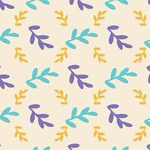 leaves seamless repeat pattern background