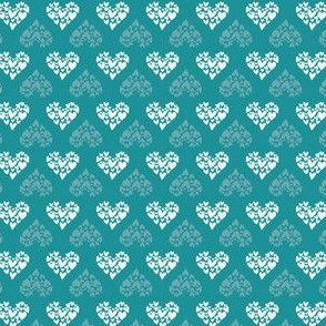 hearts sweet seamless repeat pattern design