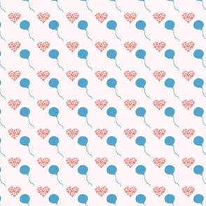 heart balloon seamless repeat pattern.