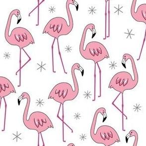 Flamingos - white