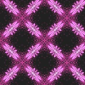 Starry Squares Diagonal Pattern Bold Pink