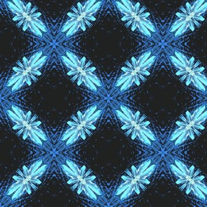 Starry Squares Diagonal Pattern Bold Aqua