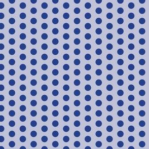 Navy and Slate Blue Polka Dots