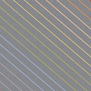 Charcoal Slant Stripes