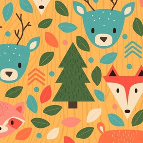 Woodland Creatures Bright