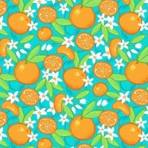 Tangy Tangerines (Aqua)