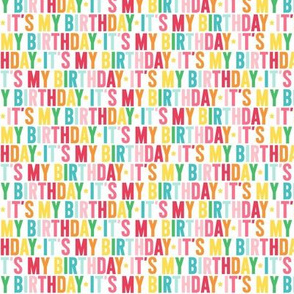 its my birthday XSM rainbow UPPERcase
