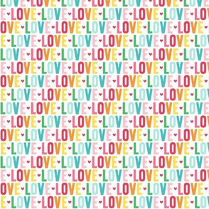 love XSM rainbow UPPERcase