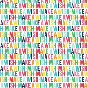 make a wish XSM rainbow with navy UPPERcase