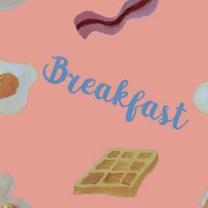 Breakfast pattern - Coral Almond