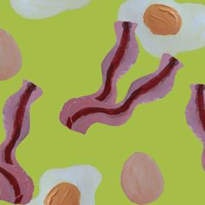 Breakfast pattern - White Grape