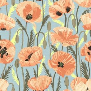 Orange Sunrise Poppies