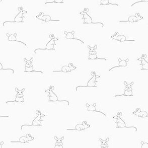 Mouse in thine linework -  black and white
