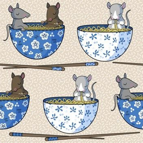 Rats in hot noodle baths -small