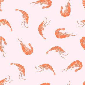 Pink shrimp pattern