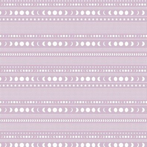 Trust the universe moon phase mudcloth stars and abstract dots nursery lilac purple SMALL