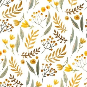 watercolor warm florals