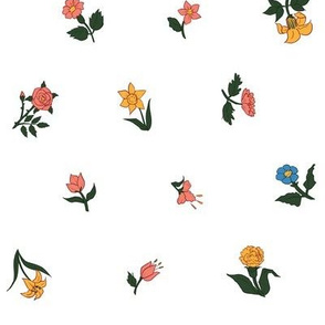 Heather's Floral Ditsy Colonial Fabric