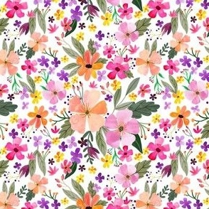 """4"""" Floral Field - White"""