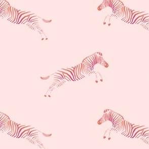 Zebra. Colorful, wildlife pattern in pink.