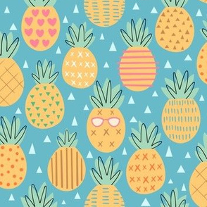 Pineapple Party - Blue