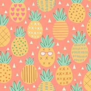 Pineapple Party - orange