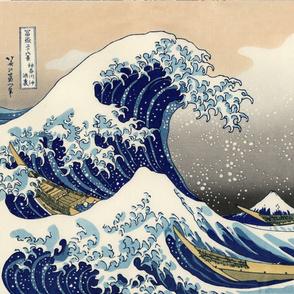 CENTERED Great Wave off Kanagawa 42w 29h