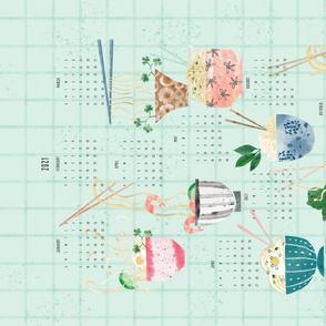 Noodle Bowls 2021 Calendar Tea Towel