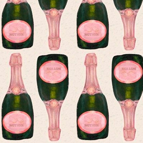 pink champagne - approx 5 inch bottles