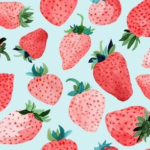 Blue Strawberries by Angel Gerardo - Large Scale