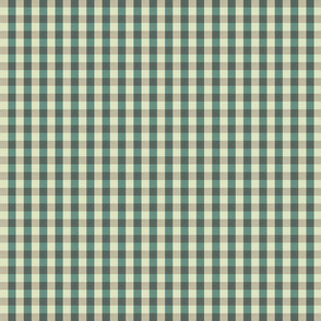 Green gingham small