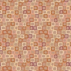 Giraffe Blocks - Honey Sienna -Mid Skin tone, Very small scale, micro