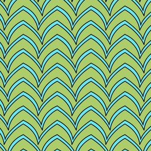 Flying Stripe  - Turquoise Celadon