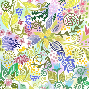 floral hand-drawn doodle