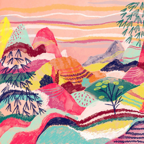Candy coloured landscape abstract II