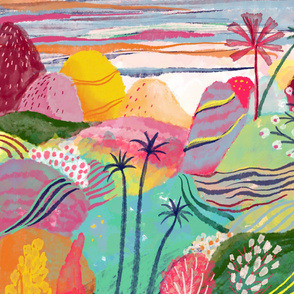 Candy coloured landscape abstract III