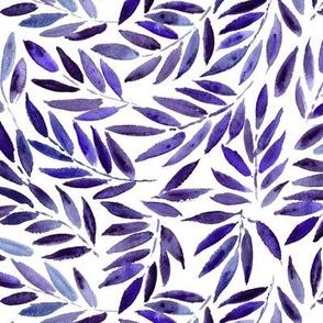 Amethyst Japanese leaves - watercolor p278