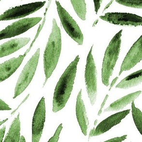 Larger scale Japanese leaves watercolor p278