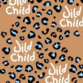 Little wild child leopard spots and animal print dots nursery neutral beige boys