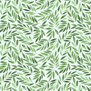 Japanese leaves - greenery watercolor p278