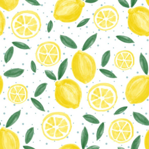 Painted Lemons and Dots
