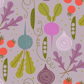 veggie garden / purple