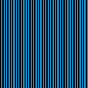 black and bright blue (#0098dc) stripe