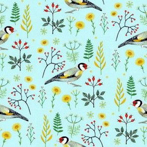 Goldfinch and berries